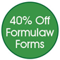 40% off Formulaw Forms