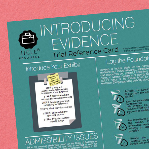 Picture of Introducing Evidence Trial Reference Card